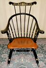 VINTAGE Ethan Allen High Hoop Back Stenciled Wood Rocker/ Rocking Chair