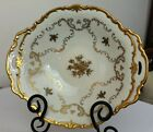 Reichenbach Porcelain Candy / Friut Bowl 22K Gold Flowers and Trim Germany GDR