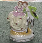 Vintage Maruyama Porcelain Figurine Victorian Couple Occupied Japan