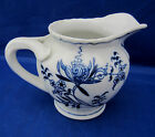 8 Oz Creamer BLUE DANUBE Blue Onion Design on White Unique Handle Excellent