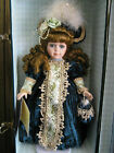 COLLECTIBLE MEMORIES PORCELAIN DOLL WITH TRUNK, ISABELLA,  MINT