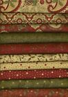 Moda Sandy Gervais Christmas Cotton Quilt Fabric Pine Fresh  5 yds Merry Medley
