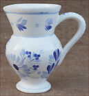 HB Quimper Blue White Pitcher French Faience 1970