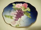 Vivid Antique Rosenthal Germany Porcelain Plate With Grapes & Flower Decorations