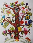 ECOLOGY TREE of Life Vintage ERICA WILSON Floral Animals CREWEL Embroidery KIT