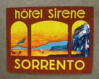 HOTEL Luggage Label - Grand Hotel SIRENE Sorrento Italy  -1262
