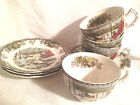 4 Johnson Bros Friendly Village Sets of Cups and Saucers Four