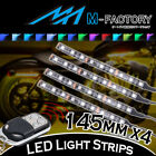 RGB Light Strips Motorcycle Fairing Body Frame 145mm 4Pcs Fit Suzuki Motorcycles