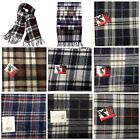 Mens Boys Unisex Plaid Multicolor Scarf Muffler Brushed Polyester Warm and cozy