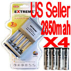 4 digimax 2850mah Rechargeable battery+EXTREME 3 Hour AA/AAA Charger!!!!!!!!!!-&