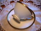 Thomas Bavaria Footed Cup & Saucer Vintage Gold Leaf U.S Patent Applied For Mark