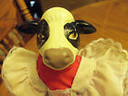 Unique Cow doll - All Original Red & White Outfit-Bisque Head, Arms, & Legs