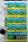Sticko Baseball stickers Words label maker textured