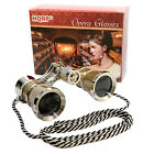HQRP Opera Theatre Glass Optics Lens Binoculars Gold Silver with Chain