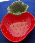 Strawberry Pottery Serving Dish Platter Tray for Dip PoppyTrail CA  USA 13.5