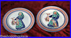 2 PLATE CERAMIC NORWAY ELLE KERAMIKK 129 P.O L FISH FOLK ART FISHERMAN CHRISTMAS