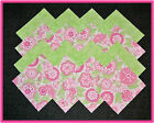 40 Just Pinky Fabric Squares Quilt blocks Kit Sewing Quilting 4x4 blocks