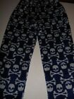boys pajama pants im navy blue with gay skulls/bones size 6-7, super soft poly