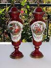 Pair of Antique French hand Painted Urns