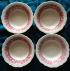 Lot Of 4 Strawberry Hill Dessert Fruit Bowls Restaurant Ware Syracuse China