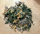 Vintage Lot Of Plastic Green Army Men 80+ Pieces Total NO RESERVE