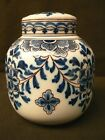 Gorgeous vintage dutch Delft MAKKUM ginger jar lidded pot