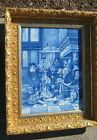 Antique Delft tiles after Jan Steen possibly De Porceleyne Fles Plaque