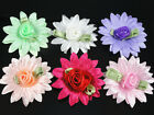 50pcs Satin Flower Rose sewing/wedding/the appliques Lots 6Color