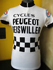 PEUGEOT ESSO GEISWILLER PROTEAM 70S VINTAGE ACRYLIC CYCLING JERSEY Sz S M