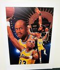 KAREEM ABDUL JABBAR AUTOGRAPHED LIMITED EDITION LAKERS AP LITHOGRAPH DANNY DAY