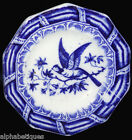 Rare low Blue Miniature Toy Pie Plate 1840 Exotic Bird Staffordshire Meigh