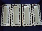 Lenox Holiday Christmas 4 Giftable Pierced Laced Tray Dishes  Matching Tartan