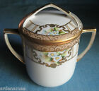 Vintage Nippon Maple Leaf Hand painted Milk Serving Pot with Lid circa 1900's