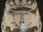 Edinburgh Scottish Cut Etched Crystal Brandy Snifter  Goblet Thistle FLAWLESS!