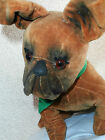 MAGNIFICENT  antique VELVET  STUFFED  DOG  SO  CHARMING