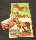 VINTAGE PIN THE TAIL ON DONKEY PARTY GAME SET W OVER 25 TAILS  ORIGINAL BOX