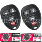 2 New Replacement Keyless Entry Remote Fob for 15252034 + 2 Extra Batteries