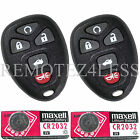 2 New Replacement Keyless Entry Remote Fob for 22733524 + 2 Extra Batteries