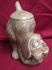 Vintage McCoy Hound Dog Cookie Jar Dog Treat Brown