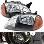 For 98 01 Geo Metro Front Pair Head Lights Lamps w Lens GM2503166 GM2502166
