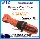 Winch Rope Synthetic Dyneema 10mm x 30m Car Tow Recovery Offroad 4WD Cable-45933