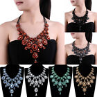 Fashion Chunky Chain Glass Crystal Collar Choker Statement Pendant Bib Necklace