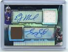 2013 BOWMAN STERLING E.J. MANUEL & GENO SMITH DUAL AUTOGRAPH JERSEY RC SP #10 15