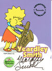 SIMPSONS 10TH ANNIVERSARY AUTOGRAPH CARD A3 YEARDLEY SMITH AS LISA SIMPSON