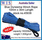 Winch Rope Synthetic Dyneema 10mm x 30m Car Tow Recovery Offroad 4WD Cable-45938
