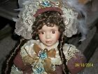 HEIRLOOM PORCELAIN DOLL by DUCK HOUSE/ GOLDEN KEEPSAKES - MINT IN BOX with COA