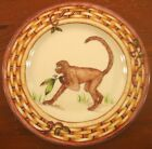 Monkey Frond Pink American Atelier Salad Dessert Plate Bamboo Tropical Palm Tree