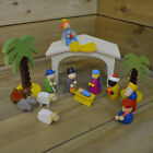 Childrens Kids Christmas Wooden Nativity Scene Toy Play Set