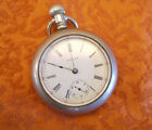 WALTHAM 1908 OPEN FACE POCKET WATCH SIZE 18 15 JEWELS SILVERODE CASE not running
