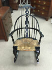 Gorgeous Colonial Revival Comb Back Windsor Rocking Chair circa 1920